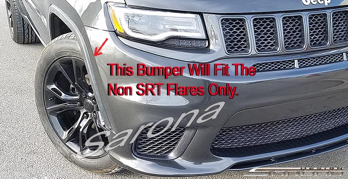 Custom Jeep Grand Cherokee  SUV/SAV/Crossover Front Bumper (2014 - 2019) - $980.00 (Part #JP-024-FB)